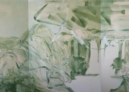 energetische Landschaft, 2016, Acryl auf Leinwand, 260 X 600 cm